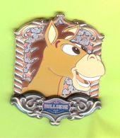 Gros Pin's BD Disney Pile-Poil / Bullseye Cheval (Histoire De Jouets / Toy Story) (Verre Coloré) RARE ÉL - #213 - Disney