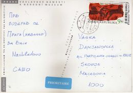 Postcard Czech Republic ,stamp Motive - 2000 Antic Olympic Games - Lettres & Documents