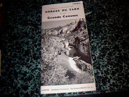 Vieux Papiers Dépliant Touristique Année 70? Gorges Du Tarn Et Des Grands Causses Lozère - Folletos Turísticos