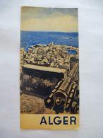 ALGER Plan Et 6 Photos OFFICE TOURISTIQUE Vers 1952 - Folletos Turísticos