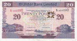 BILLETE DE IRLANDA DE 20 POUNDS DEL AÑO 2015  (BANKNOTE) ULSTER (RARO) - Ireland