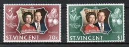 St. Vincent, 1972, Silver Wedding, Royal, MNH, Michel 323-324 - St.Vincent (...-1979)