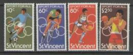 St. Vincent, 1980, Sports, Soccer, Football, Cycling, Basketball, Boxing, MNH, Michel 581-584 - St.Vincent (1979-...)