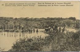 Entier Carte Postale 10c. Carte 45. Pont De Fortune Sur La Rivière LUVONE - Ruanda