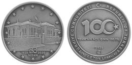 AC - CENTENARY OF THE GRAND NATIONAL ASSEMBLY PARLIAMENT 23APRIL 1920 - 2023 COMMEMORATIVE BRONZECOIN UNC TURKEY - Turquia