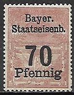 BAVIERE   -   FISCAL  .  Le 70 Pfennig . Neuf **. - Bavaria