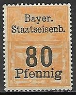 BAVIERE   -  FISCAL  .  Le 80 Pfennig . Neuf **. - Bavaria