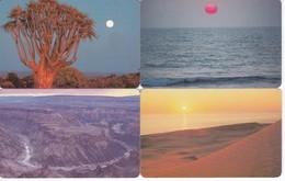 SERIE COMPLETA DE 4 TARJETAS DE NAMIBIA DE SUNSET (PUESTA DE SOL) - Namibie