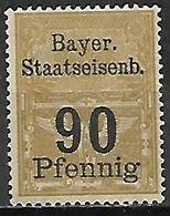 BAVIERE   -  FISCAL  .  Le 90 Pfennig . Neuf **. - Bavaria