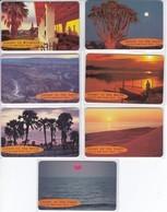 SERIE COMPLETA DE 7 TARJETAS DE NAMIBIA DE SUNSET (PUESTA DE SOL) - Namibie