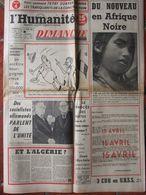 Journal L'Humanité Dimanche (8 Avril 1956) Afrique Noire - Paris-Roubaix - Grotte Arcy Sur Cure - 1950 à Nos Jours