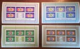 St. Lucia, 1977, Silver Jubilee Queen Elizabeth II, Royal, MNH Sheets, Michel 407-410 - St.Lucia (...-1978)