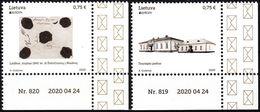 LITHUANIA 2020-07 EUROPA: Ancient Postal Routes. Architecture. Data-Corner, MNH - Otros