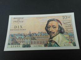 Billet De 10 Nouveaux Francs Richelieu 04/08/1960 état SLPENDIDE - 1959-1966 Francos Nuevos