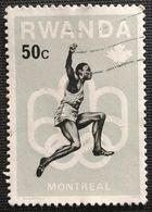 022. RWANDA (50C)  USED STAMP MONTREAL OLYMPICS - Rwanda