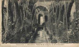 GRANADA. VISTA DE LA ACEQUIA EN EL GENERALIFE - Granada