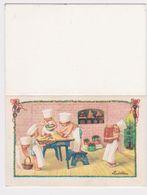 Pauli EBNER - Marque Place De Table (déplié 9cm X 7 Cm) (4,5 Cm X 7 Cm - Taille De L'image Plieé En Marque Place) - Ebner, Pauli