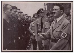 DT- Reich (008245) Propaganda Sammelbild Adolf Hitler Bild 85, Reichsparteitag 1935. Der Führer Mit Dr. Ley - Germania