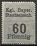 BAVIERE   -    FISCAL   -     Le  60 Pfennig . Neuf *. - Bavaria
