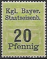 BAVIERE   -    FISCAL   -    20  Pfennig **. - Bavaria