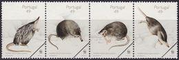 Specimen, Portugal Sc2156a Pyrenean Desman, WWF, World Wildlife Fund - Unused Stamps
