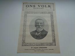 """Origineel Knipsel ( 59 A ) Uit Tijdschrift """" Ons Volk Ontwaakt """"  1924  : August Snieders  Bladel  Borgerhout  7 Blz. - Vieux Papiers"""