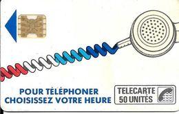 CARTE-PUBLIC-Ko58-6.690-50U-SC4On-S/E-SERIGRAPHIE- -Puce 7-2 Pe 71/4 Impact 2108-CORDON BLANC--Série-N°712108-Utilis-TBE - France