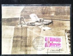 Aviation De Tourisme - Aviation Légère Et Sportive  - Carte Maximum Card Combet 1962 (Toussus Le Noble) - Toussus Le Noble