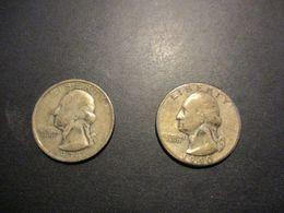Lot De 2 Pièces-  Quarter Dollar Argent 1934 Et 1940 - Otros