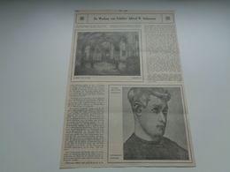 """Origineel Knipsel ( 64 ) Uit Tijdschrift """" Ons Volk Ontwaakt """"  1924 : Alfred N. Delaunois Sint Joost Ten Noode Heverlee - Oude Documenten"""