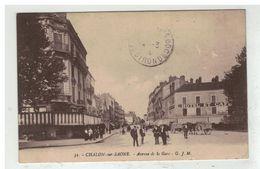 71 CHALON SUR SAONE #12422 AVENUE DE LA GARE N° 31 + CACHET FRANCHISE MILITAIRE  CHALON GARE - Chalon Sur Saone