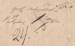 1849 BADEN Briefhülle Nach VILLINGEN - [1] ...-1849 Precursores