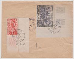 FRANCE 1952 Env Poste Aér Postes Et Télécom De L'AOF  N°YT 886 X5 Et  PA N°YT 27 29 Cachet 27.5 1952 TIAROYE (Sénégal) - Postmark Collection (Covers)