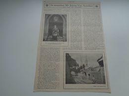 """Origineel Knipsel ( 74 A ) Uit Tijdschrift """" Ons Volk Ontwaakt """"  1924 : Jeroom Van Aertselaer  Hoogstraeten Hoogstraten - Old Paper"""