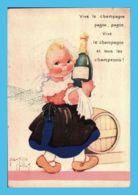 CP - Illustrateur (B. Mallet) - La Champagne - Vive Le Champagne Pagne Pagne Vive Le Champagneet Tous Les Champenois - Dibujos De Niños