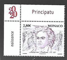 Monaco 2020 - Yv N° 3236 ** - 250 ème Anniversaire De La Naissance De Ludwig Van Beethoven - Ungebraucht