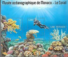 Monaco 2020 - Yv N° F3237 ** - Musée Océanographique  -  Le Corail (timbres 3237 à 3239) - Nuevos