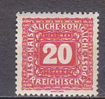 K4887 - AUSTRIA TAXE Yv N°52 * - Impuestos
