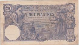 INDOCHINE  PICK N°38 B   N° 938 / J17   Sign.5 - 20 PIASTRES  BANKNOTE - Indochina