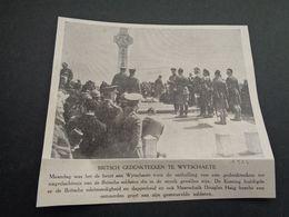 """Origineel Knipsel ( 4375 ) Uit Tijdschrift """" Ons Volk Ontwaakt """" 1924 :  Wytschaete  Wijtschate - Oude Documenten"""