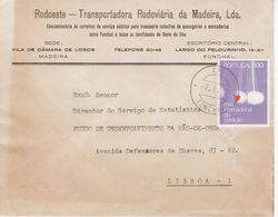 FUNCHAL 1972  Postmark , Heart Stamp ,  RODOESTE TRANSPORTADORA RODOVIÁRIA DA MADEIRA - Postmark Collection