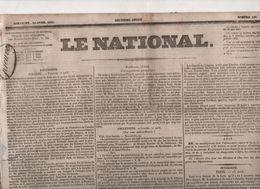 LE NATIONAL 24 04 1831 - POLOGNE - ESPAGNE - BRUXELLES - SAINT PETERSBOURG - TOURNON SUR RHONE - VITRE 35 - PROCES - Zeitungen
