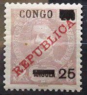 CONGO PORTUGAIS,  1910, Yvert 59, 25 Sur 200 R Lilas Sur Saumon Surchargé Republica, Neuf ** MNH TB - Congo Portugais