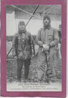 ECOLE NATIONALE D' AVIATION  AERODROME  DE BRON-LYON  - Les Lieutenants  LUCCA Et HENNEQUIN à Leur Arrivée à DIJON - Aviadores