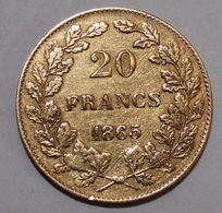 20 Francs Or Léopold 1er Tête Nue - 1831-1865: Leopold I