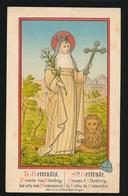 STe GERTRUDE PRIEURE D'ALTENBERG      12 X 8 CM - Images Religieuses