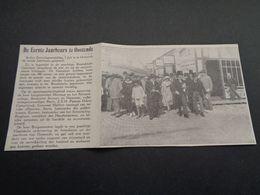 """Origineel Knipsel ( 4385 ) Uit Tijdschrift """" Ons Volk Ontwaakt """" 1924 : Eerste Jaarbeurs Te Oostende  Ostende - Non Classés"""