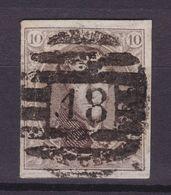 N° 10 A Margé Voisn  : 18 BINCHE ( 8 Barres ) - 1858-1862 Medaillen (9/12)
