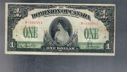 Canada  1 $ 1917 P#32c Ottimo Esemplare Bb+ Naturale   LOTTO 1730 - Canada