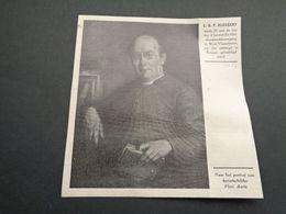 """Origineel Knipsel ( 4388 ) Uit Tijdschrift """" Ons Volk Ontwaakt """" 1924 : E.H. P. Alossery  Geluveld  Brugge  Bruges - Vieux Papiers"""